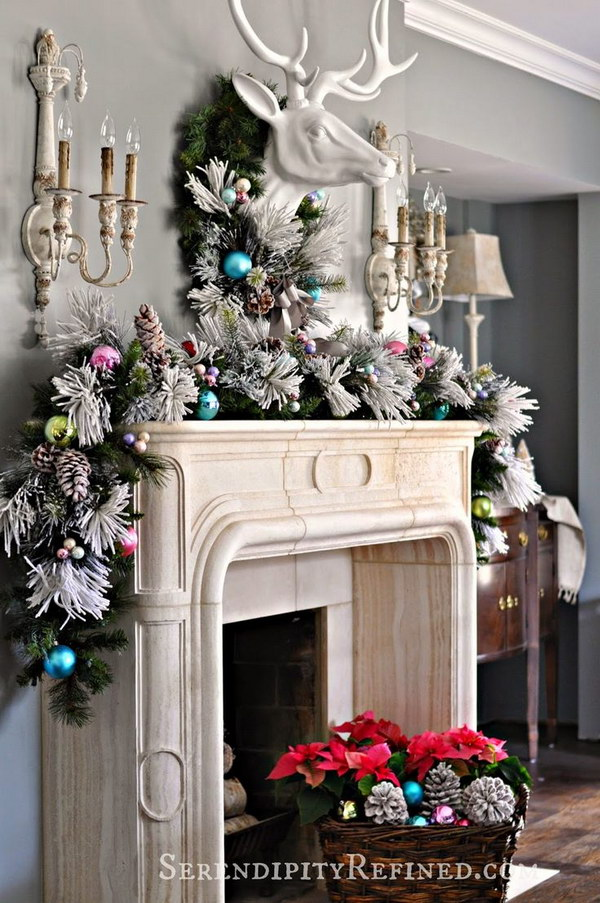 Charming Fireplace Christmas Decorations On Decoration With Easy Decorating Ideas