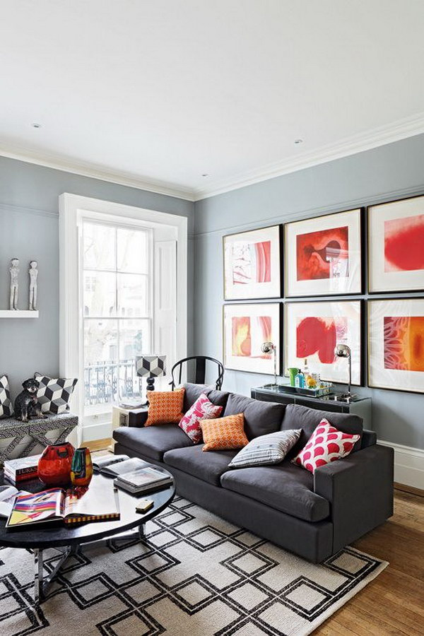 Pretty Living Room Colors For Inspiration - Hative on Colourful Living Room  id=70803
