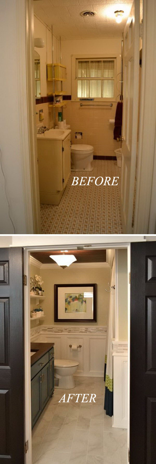 Before and After: 20+ Awesome Bathroom Makeovers - Hative on Bathroom Renovation Ideas  id=83541
