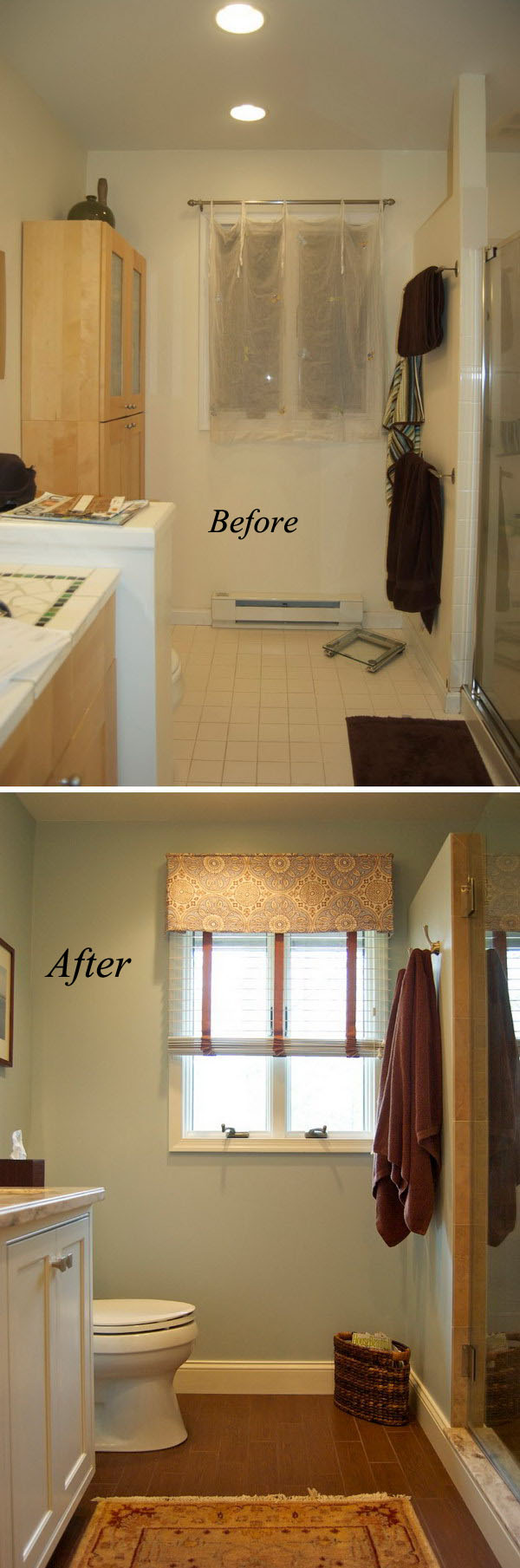 Before and After: 20+ Awesome Bathroom Makeovers - Hative on Small Bathroom Renovation  id=41942