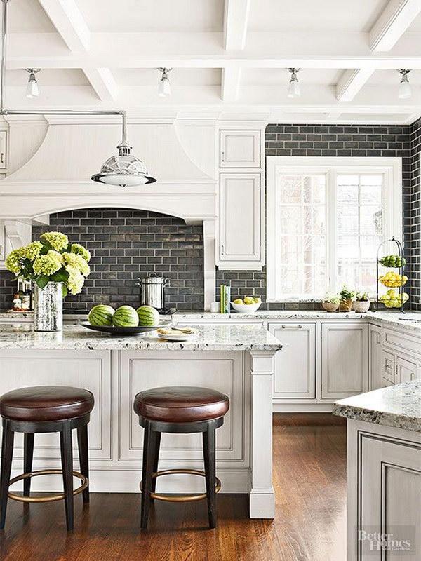 35 Beautiful Kitchen Backsplash Ideas - Hative on Black Countertop Backsplash Ideas  id=73078