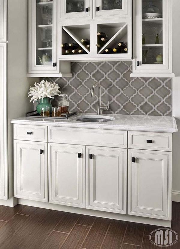 35 Beautiful Kitchen Backsplash Ideas - Hative on Backsplash Ideas For Dark Cabinets  id=20231