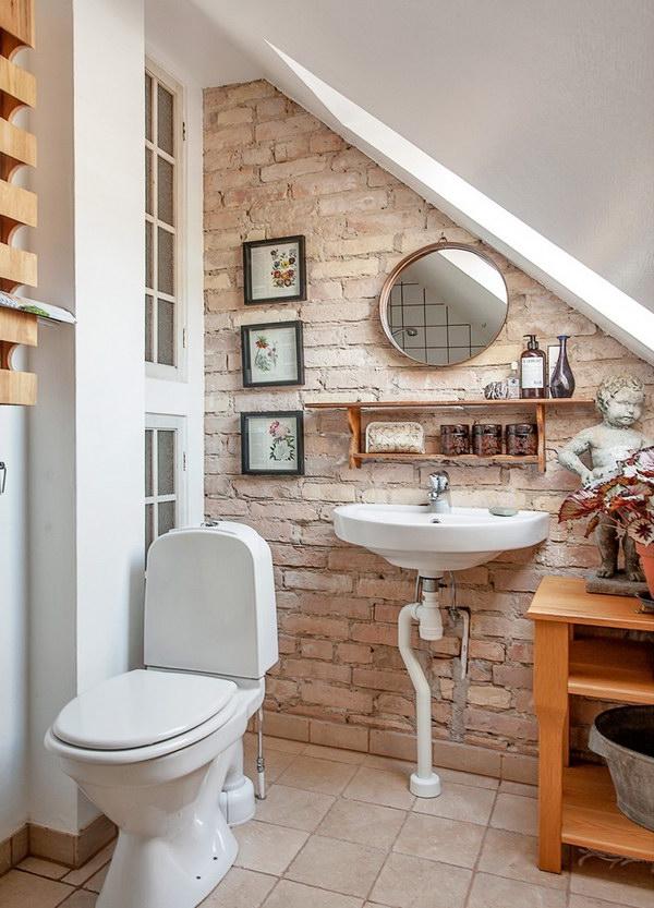 Rustic Farmhouse Bathroom Ideas - Hative on Farmhouse Shower Ideas  id=63505