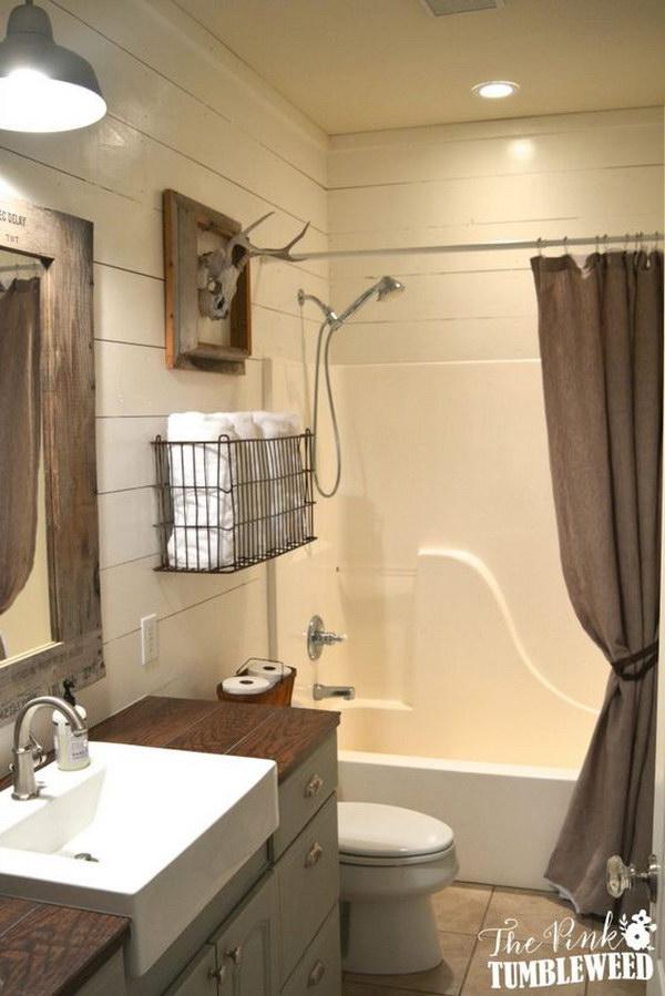 Rustic Farmhouse Bathroom Ideas - Hative on Rustic Farmhouse Bathroom  id=23409