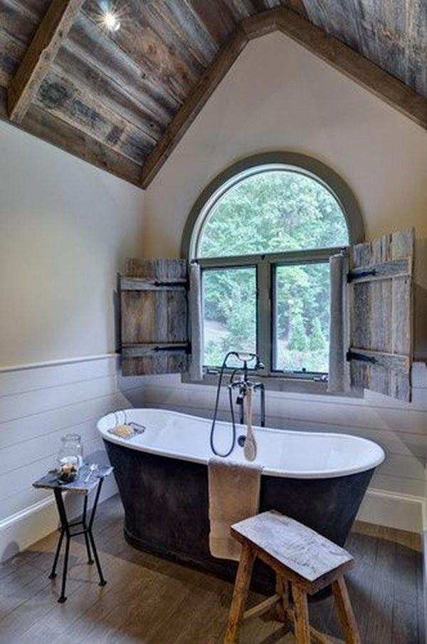 Rustic Farmhouse Bathroom Ideas - Hative on Rustic Farmhouse Bathroom  id=17527
