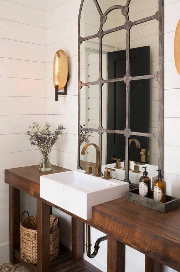 Rustic Farmhouse Bathroom Ideas - Hative on Rustic Farmhouse Bathroom  id=39661