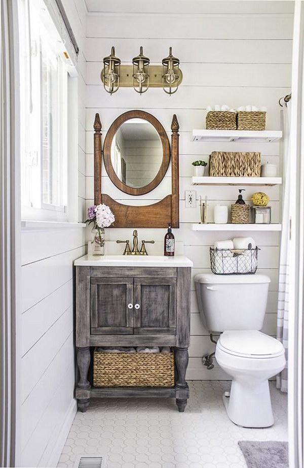 Rustic Farmhouse Bathroom Ideas - Hative on Rustic Farmhouse Bathroom  id=79549