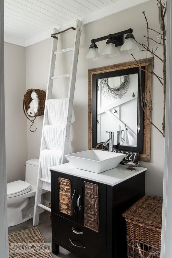 Rustic Farmhouse Bathroom Ideas - Hative on Rustic Farmhouse Bathroom  id=72966