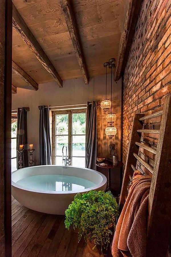 Rustic Farmhouse Bathroom Ideas - Hative on Rustic Farmhouse Bathroom  id=89625