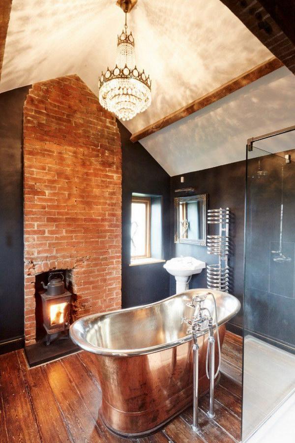 Rustic Farmhouse Bathroom Ideas - Hative on Rustic Farmhouse Bathroom  id=99762