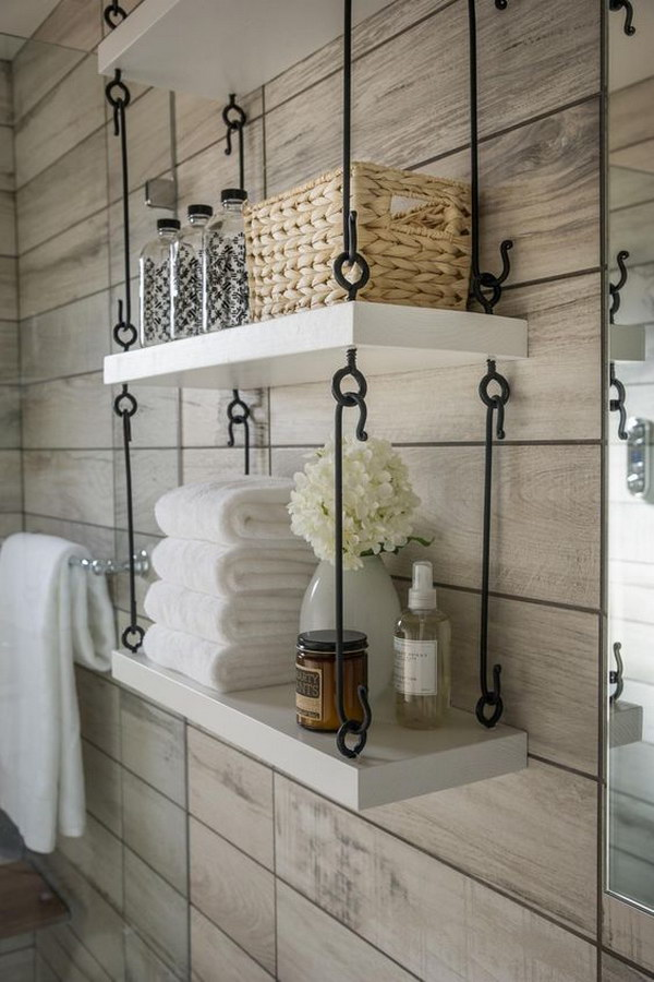 Rustic Farmhouse Bathroom Ideas - Hative on Rustic Farmhouse Bathroom  id=88984