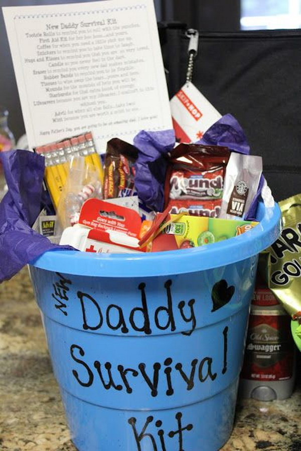 Survival Kit for New Dads|  Gifts for Dad, Gifts for Dad DIY, Gifts for Dad from Kid, Newborn, Newborn Baby