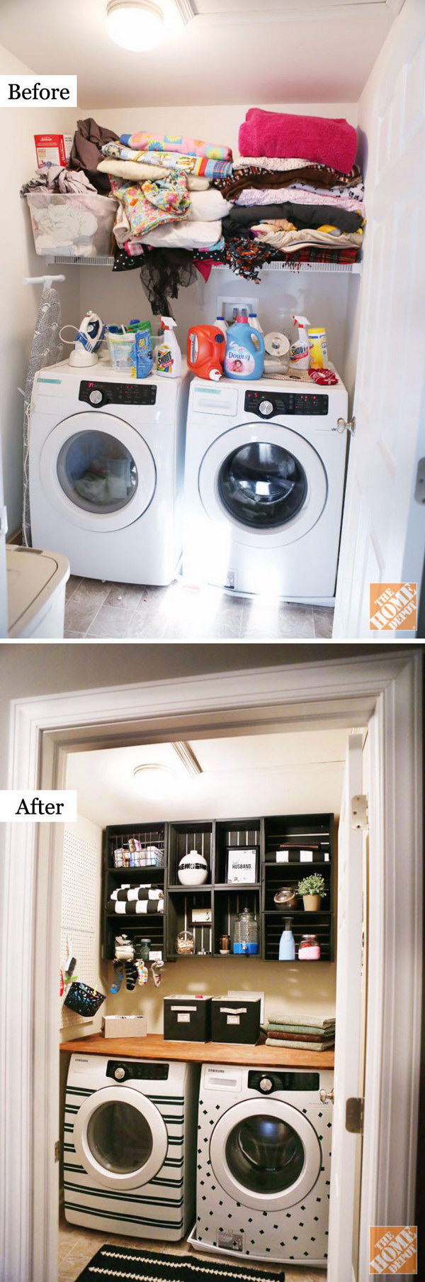 Awesome Before and After Laundry Room Makeovers - Hative on Amazing Laundry Rooms  id=13033