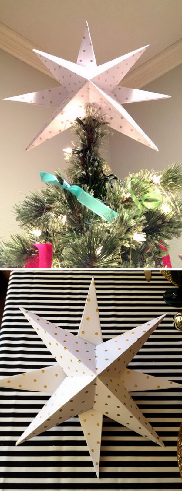 Awesome DIY Christmas Tree Topper Ideas Amp Tutorials Hative