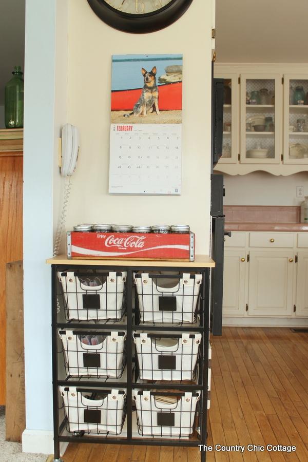 20+ Farmhouse Kitchen Storage Ideas - Hative on Farmhouse Kitchen Counter Decor Ideas  id=39010