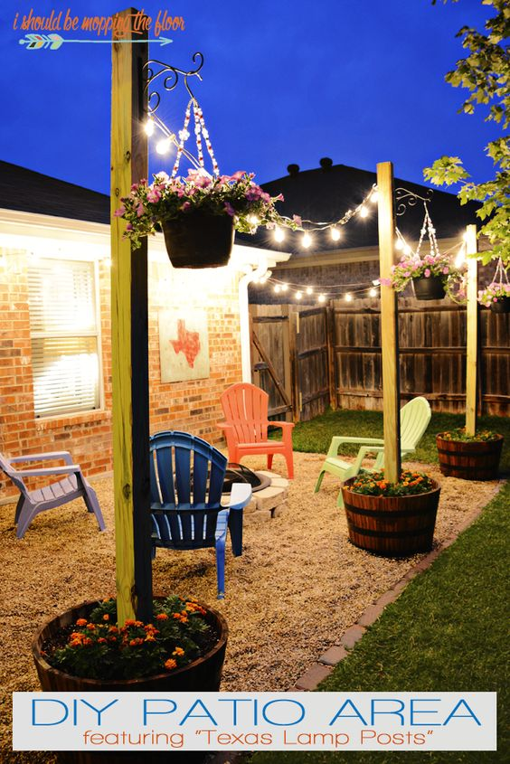 20 Amazing Outdoor Lighting Ideas for Your Backyard - Hative on Diy Small Patio Ideas id=60012