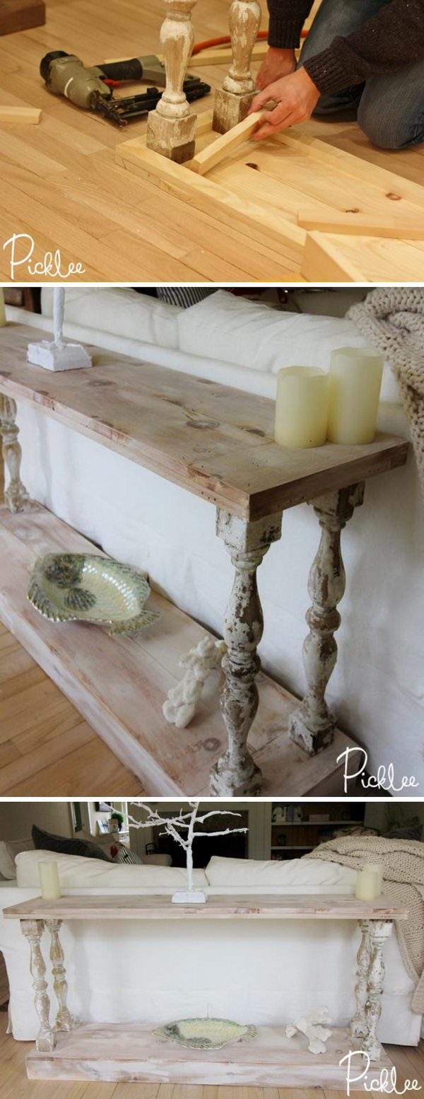 Easy diy console table gallery coffee table design ideas diy sofa table ideas brokeasshome 20 easy diy console table and sofa ideas hative geotapseo gallery geotapseo Image collections