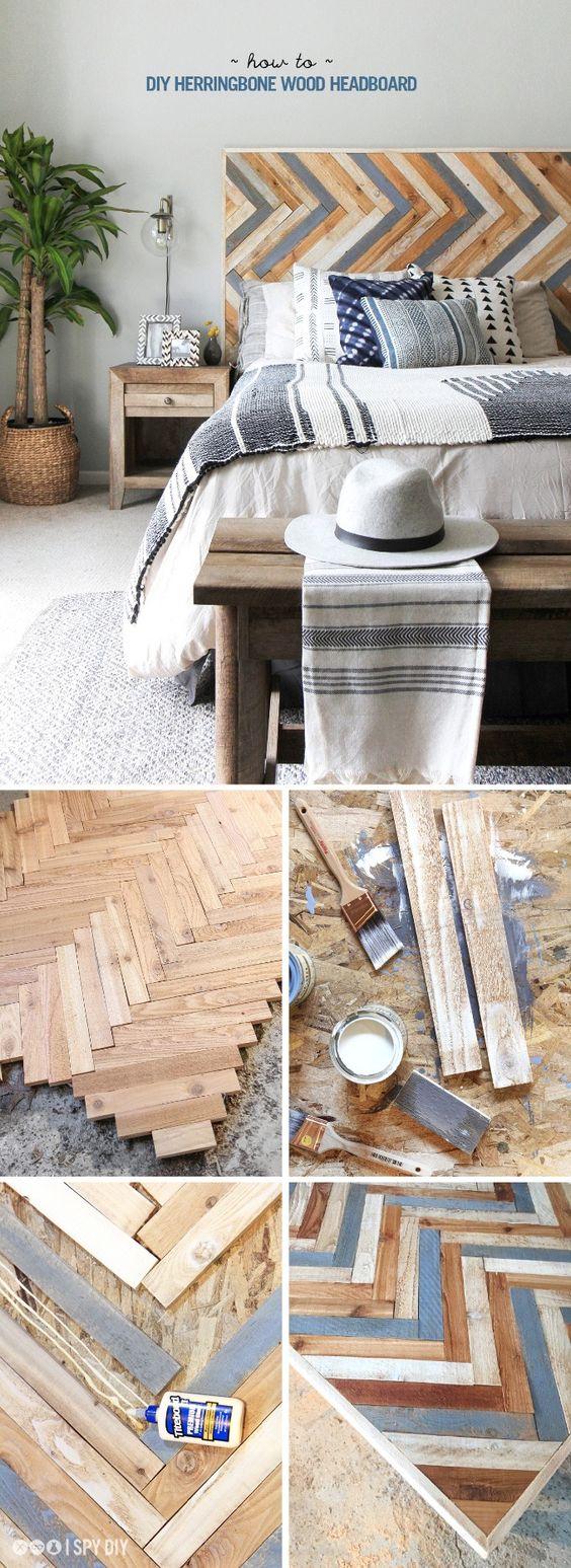30 Rustic Wood Headboard DIY Ideas Hative