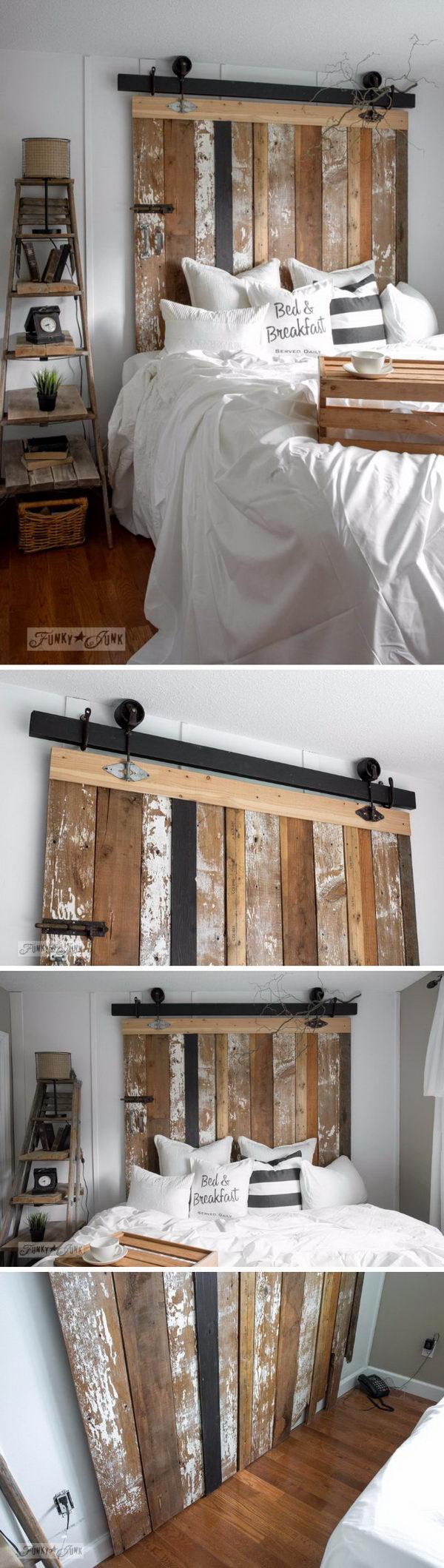 30 rustic wood headboard diy ideas