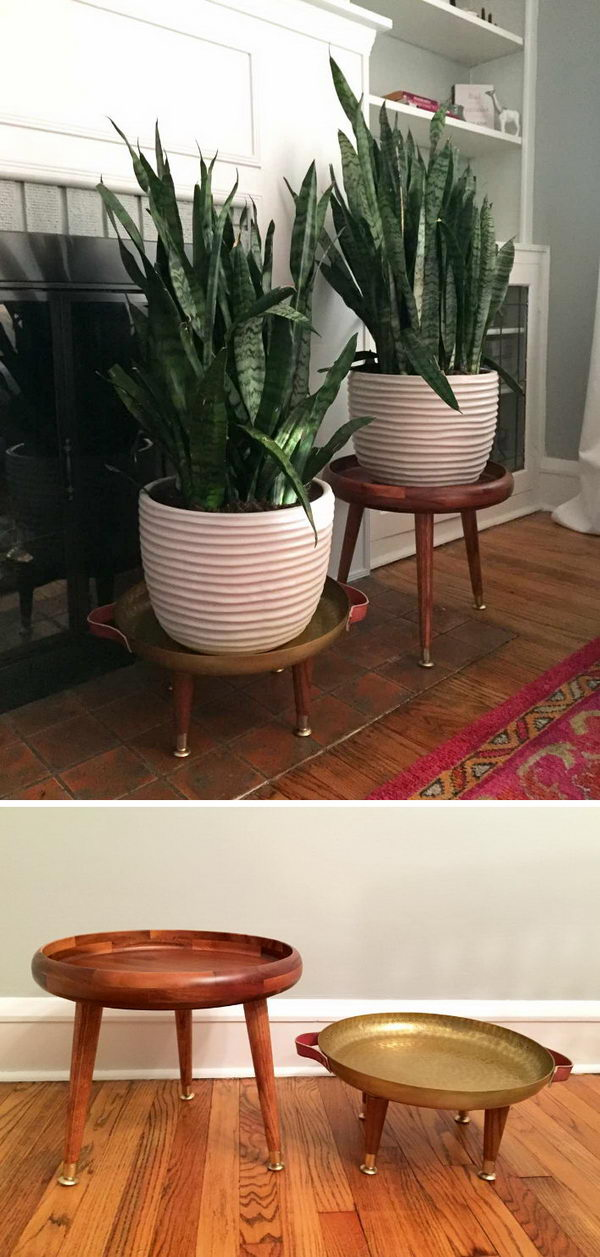 25+ DIY Plant Stands With Thrift Store Finds - Hative on House Plant Stand Ideas  id=11473