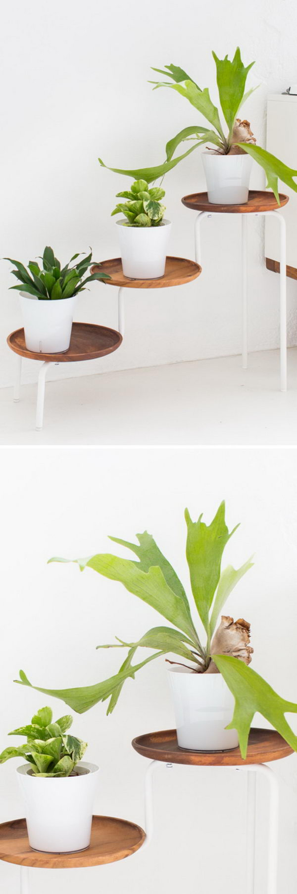 25+ DIY Plant Stands With Thrift Store Finds - Hative on Plant Stand Ideas  id=13459