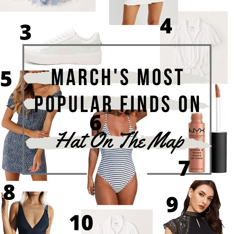 March's Most Popular On Hat On The Map