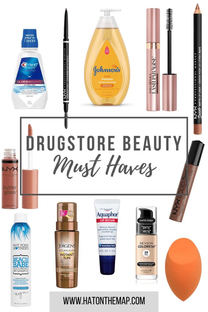 Drugstore makeup dupes, drugstore skincare, drugstore mascara, drugstore foundation, drugstore lipstick, drugstore concealer