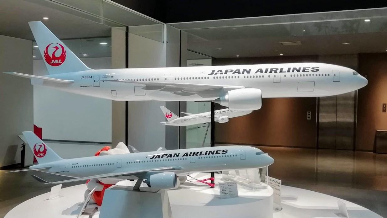 日本航空(JAL)工場見学ツアー 展示エリア