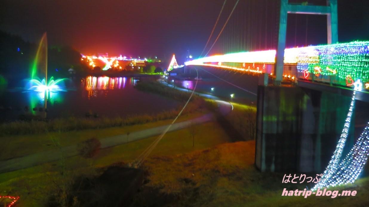 宮ケ瀬ダム クリスマス イルミネーション つり橋