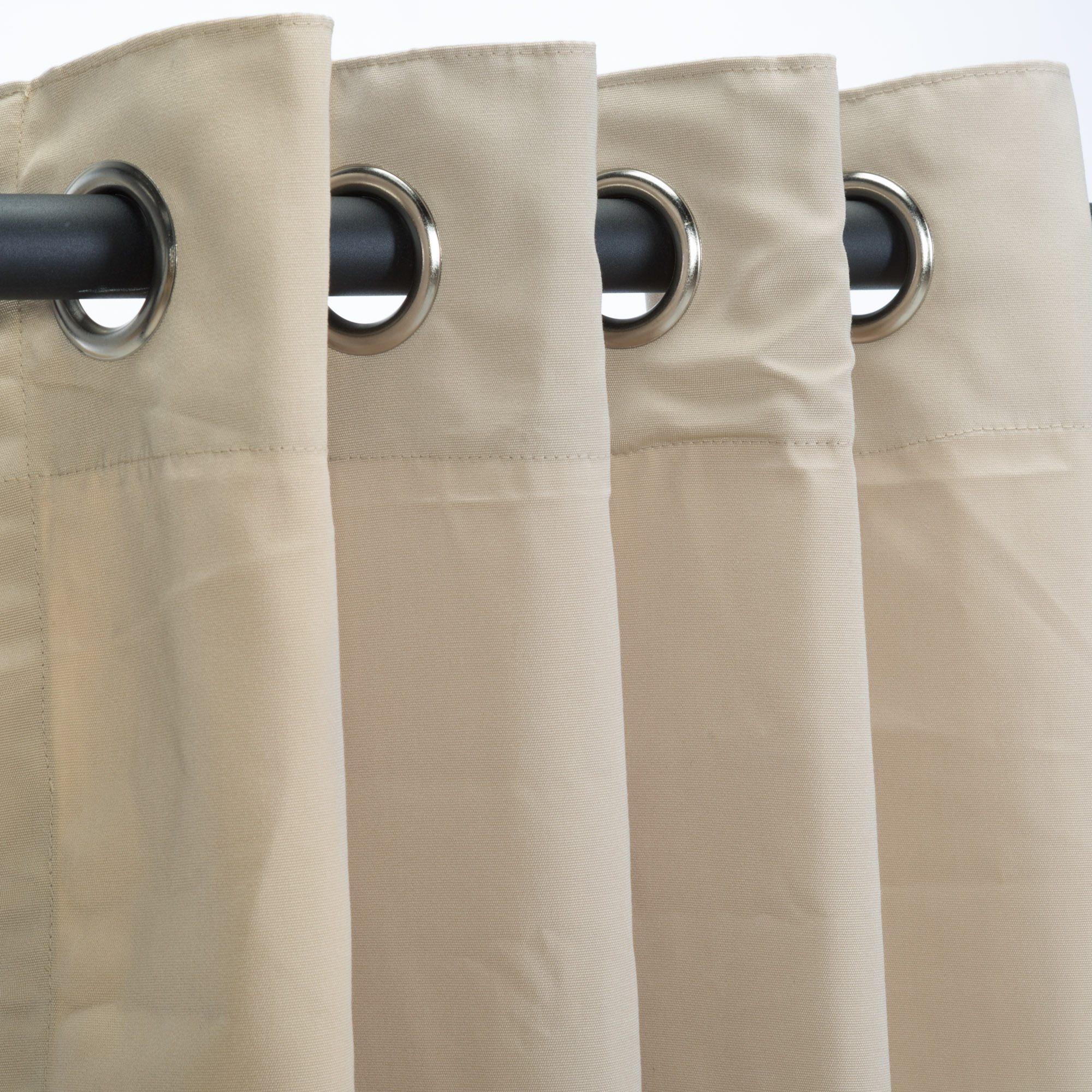 sunbrella canvas antique beige outdoor curtain with tabs custom sku