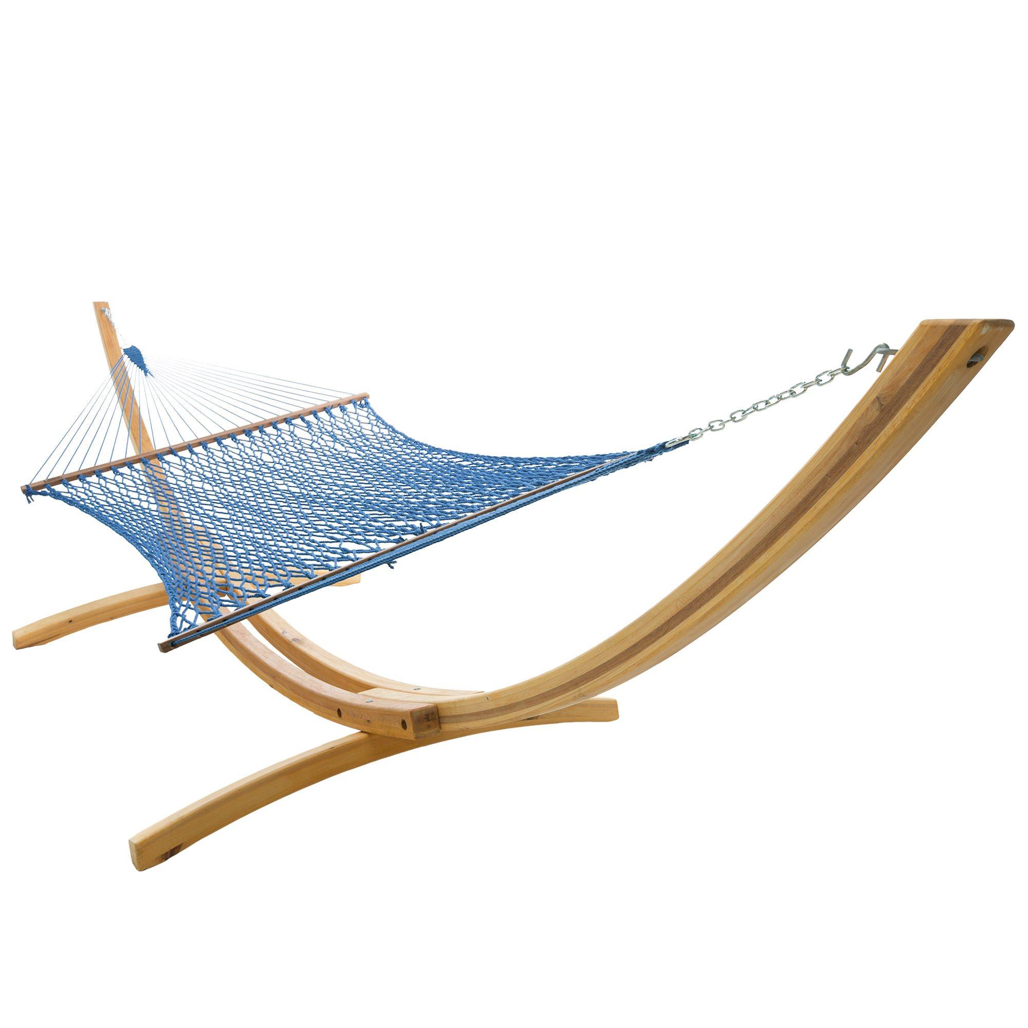 Coastal Blue Deluxe Duracord Rope Hammock