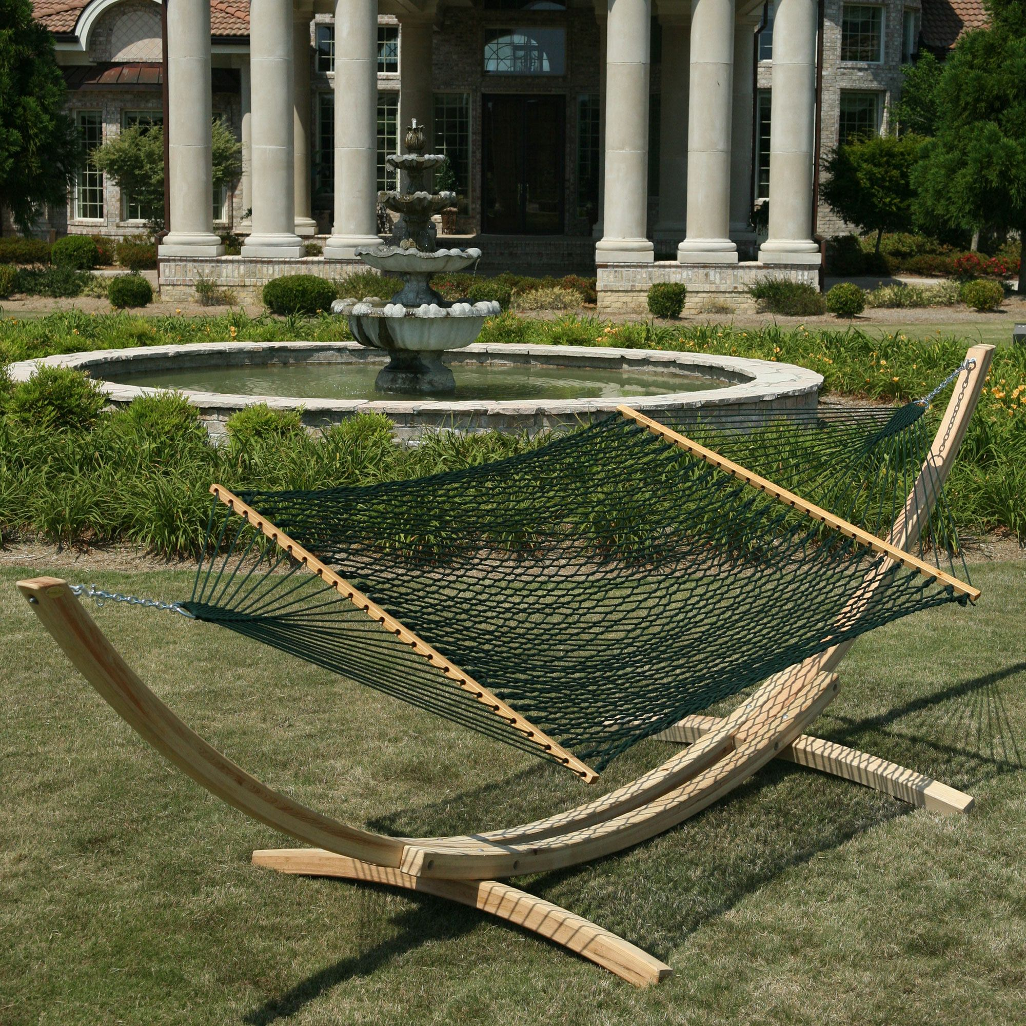 Green Deluxe Duracord Rope Hammock