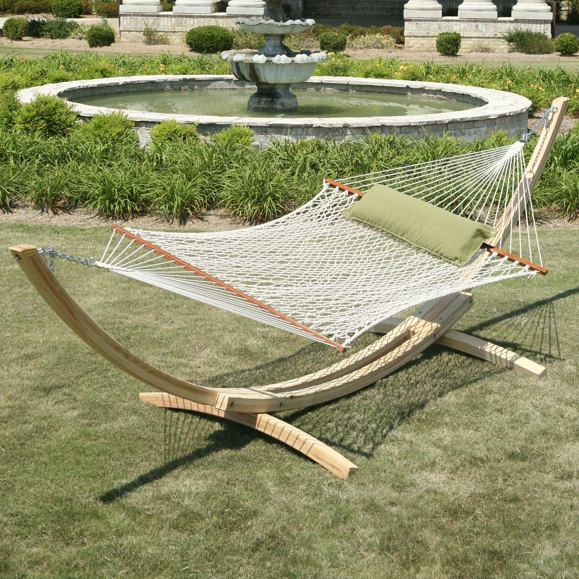 Oatmeal Deluxe Duracord Rope Hammock