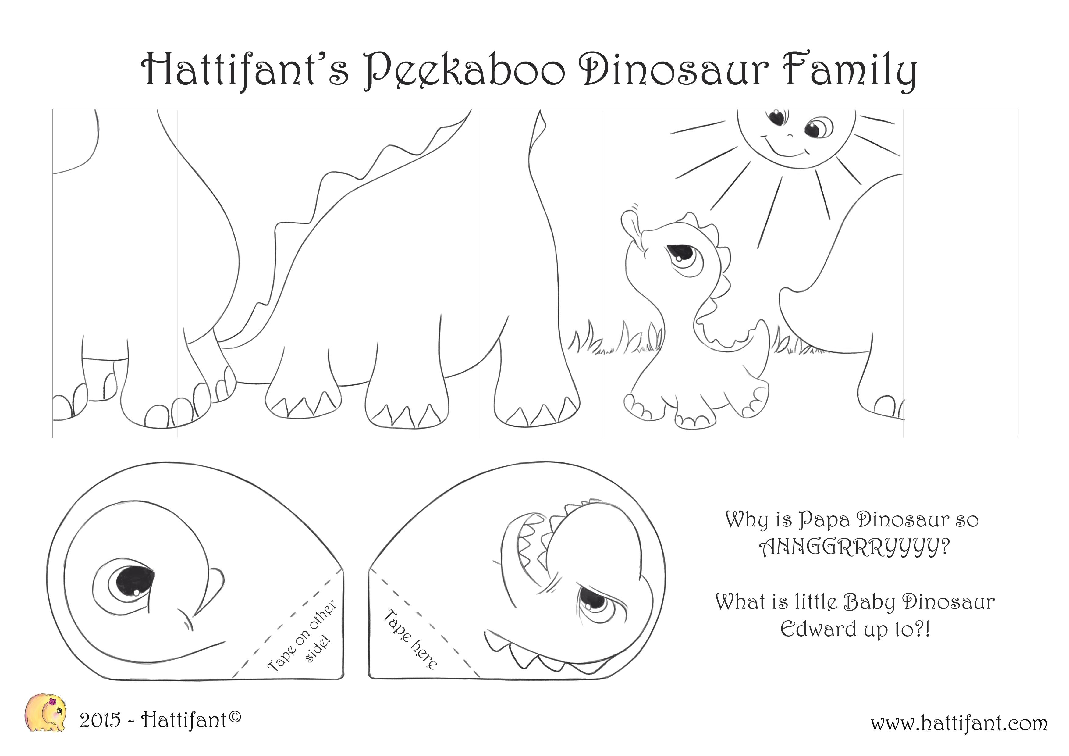 Hattifant S Peekaboo Dinosaur Family