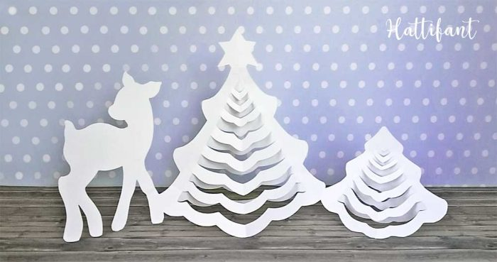 Hattifant 3D Christmas Tree Paper Papercraft Free