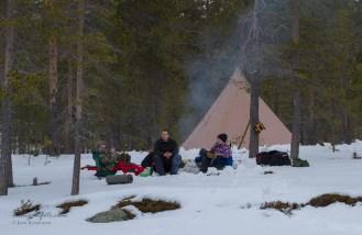 En gjeng har like så godt campa ved isbana. Det kan vi like!