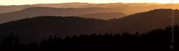 soirée sur les collines