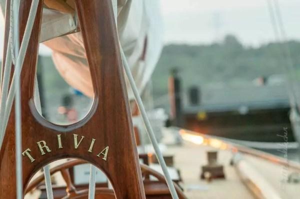 voilier 12mR « Trivia » sous levant