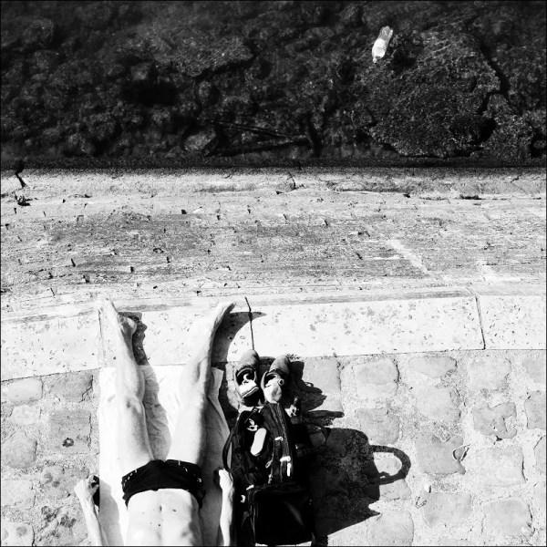 bain de soleil. Quai d'Orléans, Paris 4e