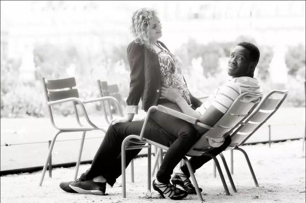 … une amour fou. Hélène et Xavier au Jardin des Tuileries