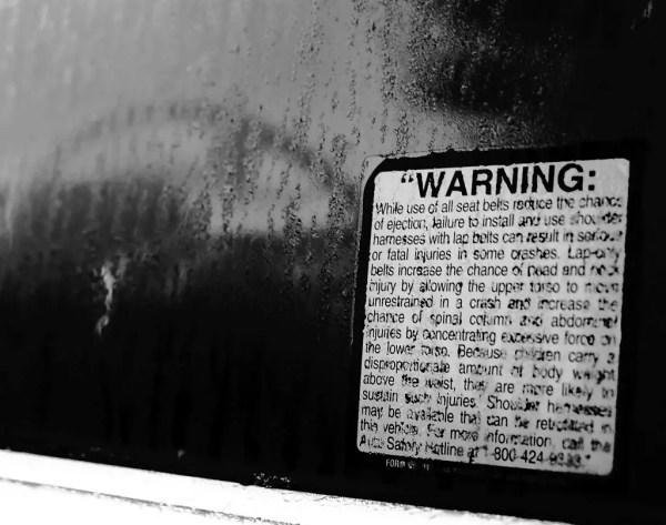 Safety-belt warnings.