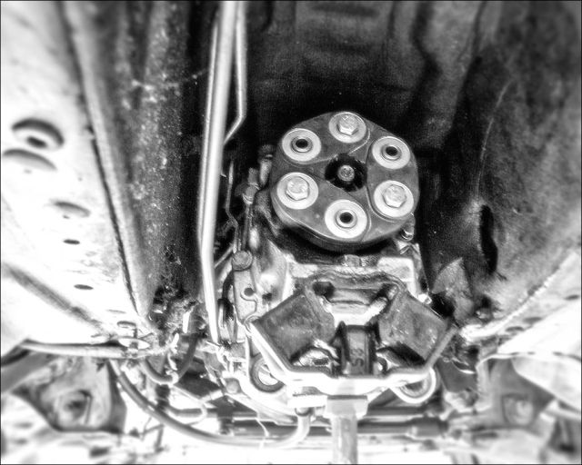Hardyscheibe an Getriebe