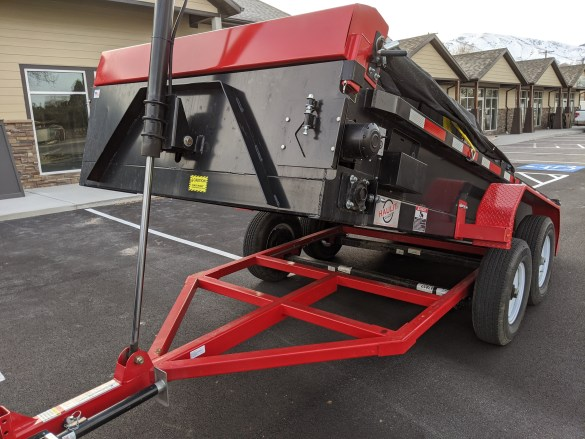 pallet delivery trailer