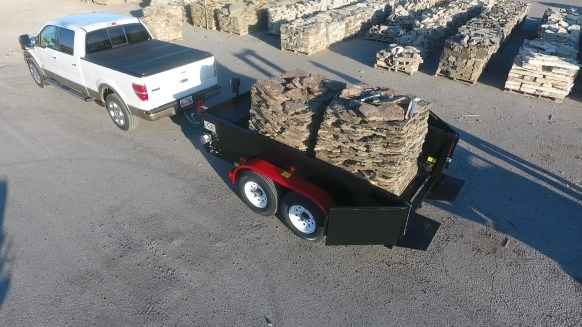 pallet trailer for sale for rock brick and block delivery