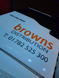 Haulage company Browns Distribution truck having camera system installed by haultech