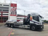Diamond Freight's vehicle outside the Bet365 Stadium, home to Stoke City Football Club.