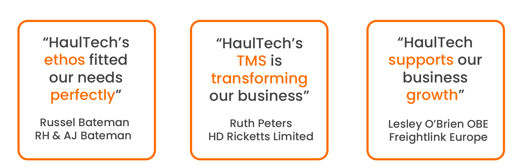 RH & Bateman, Freightlink Europe and HD Ricketts on HaulTech's Transport Management System