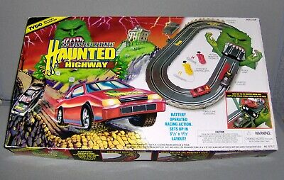 1994 Tyco Haunted Highway Race Car Track Set Working in Good Condition FREE SHIPPING
