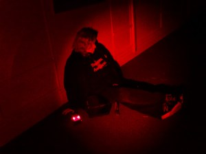 Conducting an EVP session - School investigation