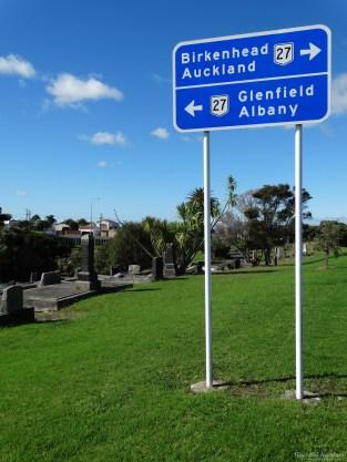 Birkenhead/Glenfield roadsign